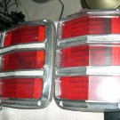 1964 1965 1966 Ford Mustang Original Rear Tail Light Bezels with Lens Set