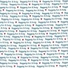 DAISY KINGDOM 1754 RAGGEDY ANN & ANDY ALLOVER WORDS FABRIC