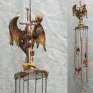 DRAGON WITH SWORD ROUND TOP WIND CHIME NIB