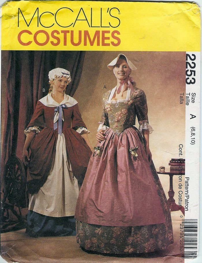 McCall's 2253 REVOLUTIONARY GOWNS Misses 6-8-10 1999