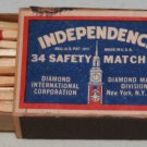DIAMOND INDEPENDENCE 34 SAFETY MATCHES 10 BOXES Vintage 1960s New
