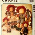 McCall's 8551 RAGGEDY ANN & ANDY Homespun Dolls OOP