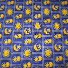 CELESTIAL SPIRIT SUN MOON STARS PATCH QUILT FABRIC SPRINGS INDUSTRIES