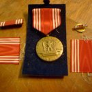 WWII Efficiency Honor Fidelity Good Conduct Medal Engraved Plus Pin Bars