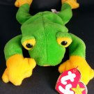 TY 1997 SMOOCHY FROG BEANIE BABIES COLLECTION With TAG