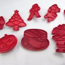 TUPPERWARE 34 HOLIDAY RED COOKIE CUTTERS Vintage