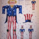 DAISY KINGDOM PATRIOTIC SCARECROW SAM PANEL OOP