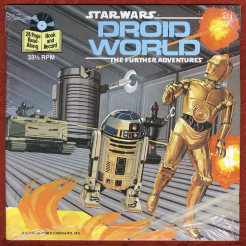 Star Wars Droid World The Further Adventures Book Record 1983