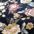 BLACK FLORAL RETRO FABRIC OAKHURST TEXTILES SIGNATURE COLLECTION OOP
