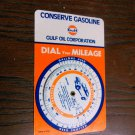 Gulf Oil Corporation Dial Your Gas Mileage Calculator Vintage
