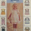 McCall's 9194 Dress Pinafore Jumpsuit Girls 2-4 1998