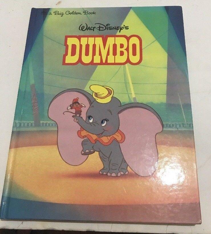 DUMBO WALT DISNEY CLASSICS Big Golden Book 1988