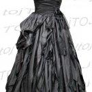 Strapless/One shoulder A-line evening dress-CH001