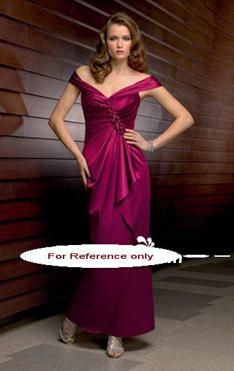 Off shoulder sheath evening suit-6218