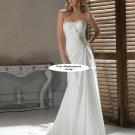Strapless sheath wedding gown-1412