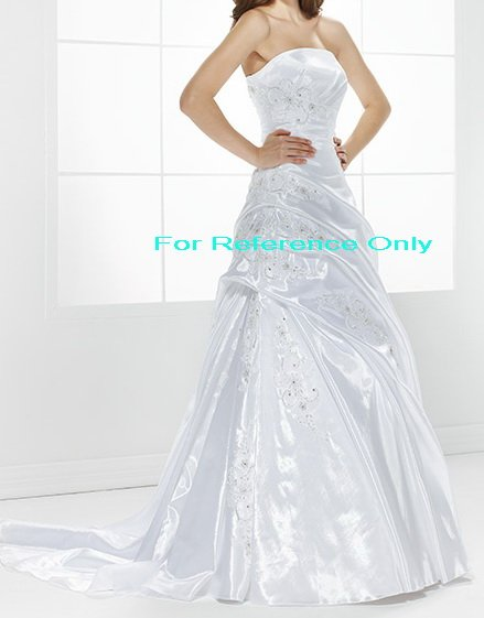 Strapless A-line wedding gown-WG821