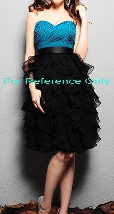 Sweet heart A-line short evening dress-ED051
