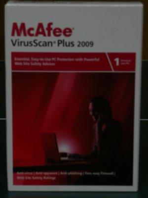McAfee® VirusScan� Plus 2009 w/SiteAdvisor� + free 2012 upgrade