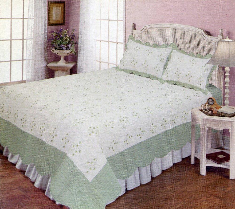 4pcs white color bedding set AY-1107