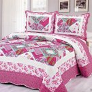 4pcs purple tone multi color bedding set AY-1113