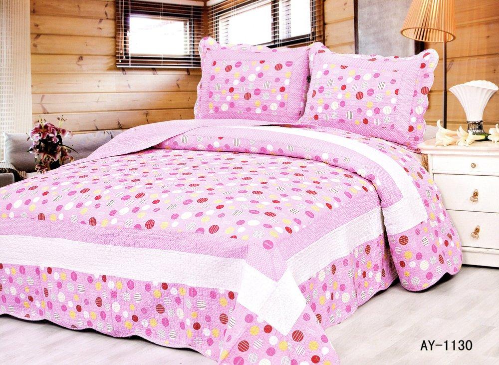 4pcs pink color bedding set AY-1130
