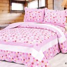 4pcs pink color bedding set AY-1130