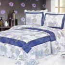 4pcs blue floral bedding set AY-1156