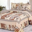 4pcs brown color bedding set AY-1158