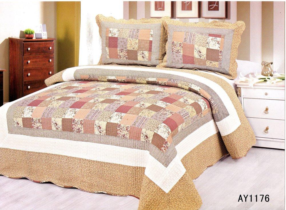 4pcs brown floral bedding set AY-1176