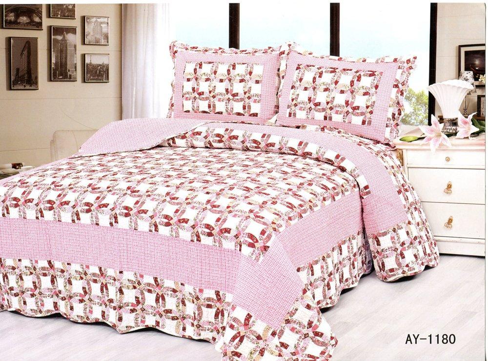 4pcs pink color bedding set AY-1180