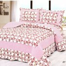 4pcs pink color bedding set AY-1180