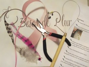 FEATHERS HAIR EXTENSION KIT pick colors & feathers DO-IT-YOURSELF illustrated instructions ONLY $10!