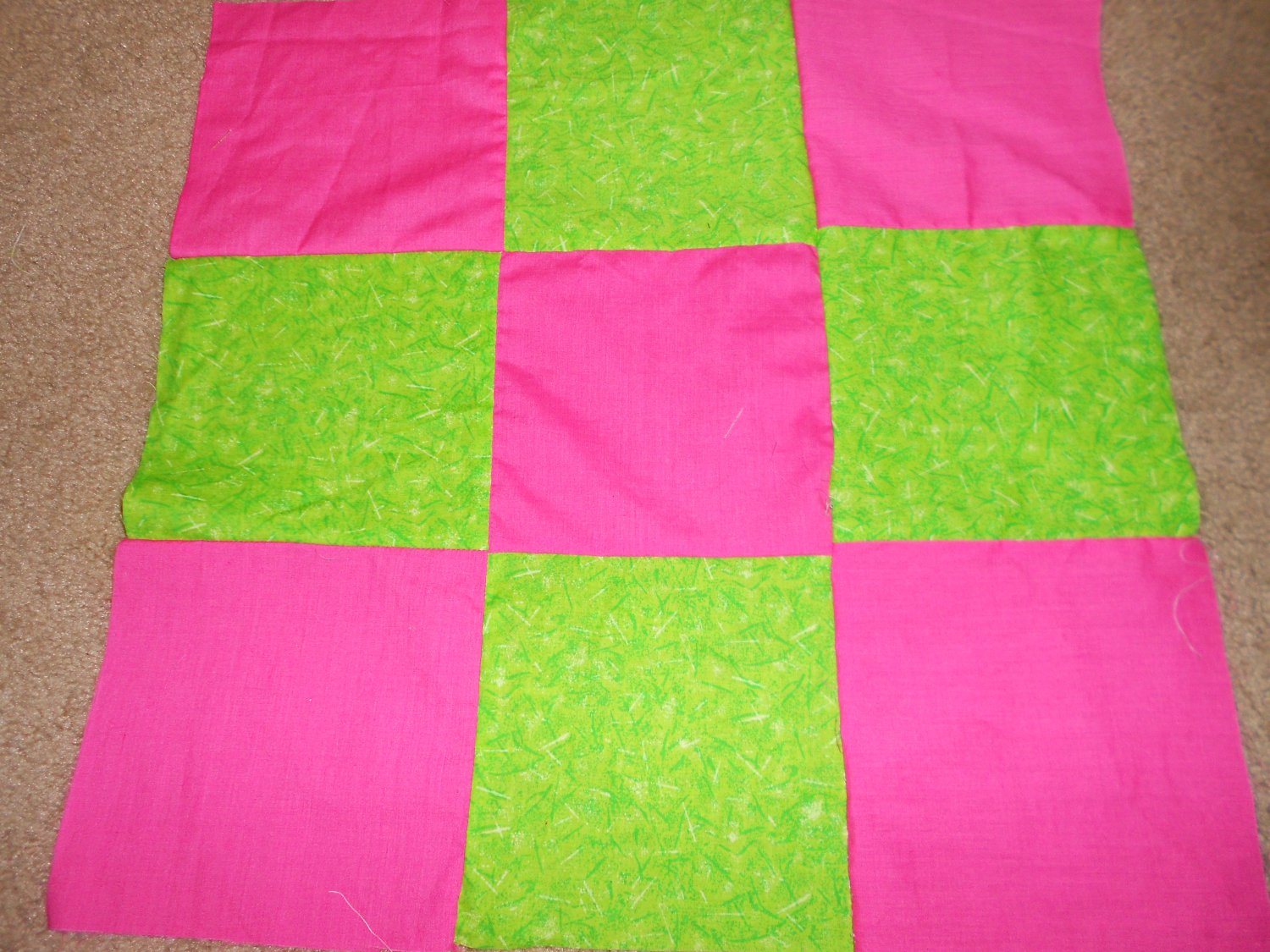 Pink And Green Weighted Blanket