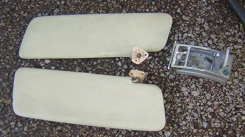 PEUGEOT - SUN VISOR - SET OF TWO - AND ASH TRAY - REMEMBER THE PEUGEOT WAS A STA