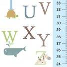 Canvas Growth Chart - Baby Nursery Decor - Animals Alphabet
