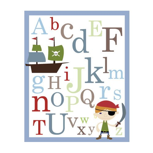 ABC Alphabet Poster print -Pirate - nursery wall decor