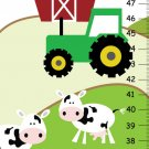 Children Canvas Height Chart - Life on the Farm- nursery art print