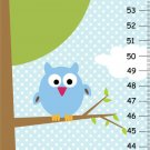 Boys Canvas Growth Charts- 2 Owls on tree