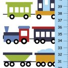 Personalized Boys Canvas Growth Charts- CHOO CHOO Trains