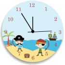 Pirate Wall Clock for Children Bedroom