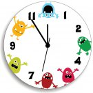 Monsters WALL CLOCK for Kids Bedroom