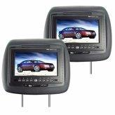 LCD Car Headrest DVD Player + FM Transmitter -Pair