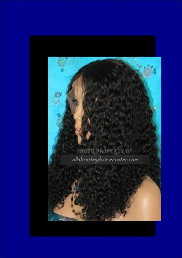 "10"" CURLY LACE WIG"