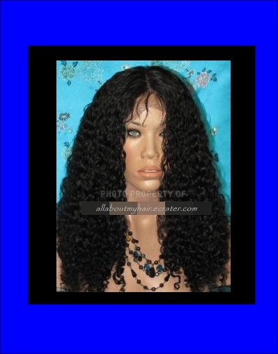 "12"" CURLY LACE WIG"