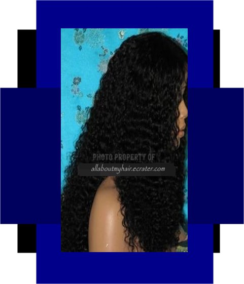 """20"""" CURLY LACE WIG"""