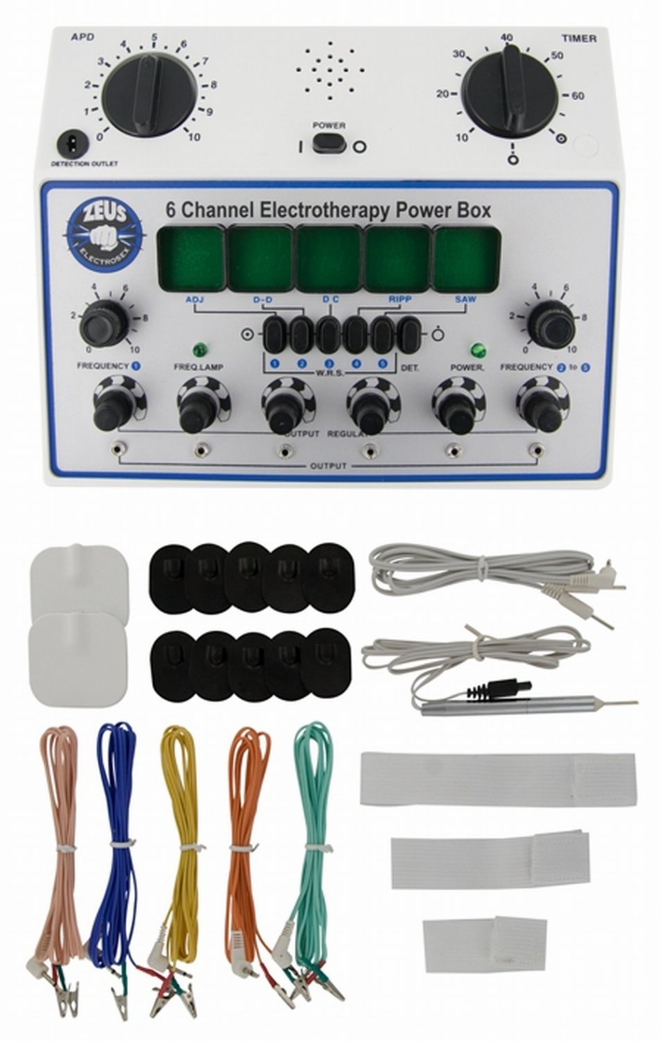 Zeus Electrosex 6 Channel Deluxe Power Box With Accessories