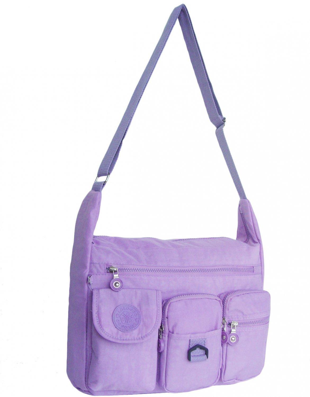 HONG YE Pure Stripe Slouch Bag,sku:hb75lightpurple3