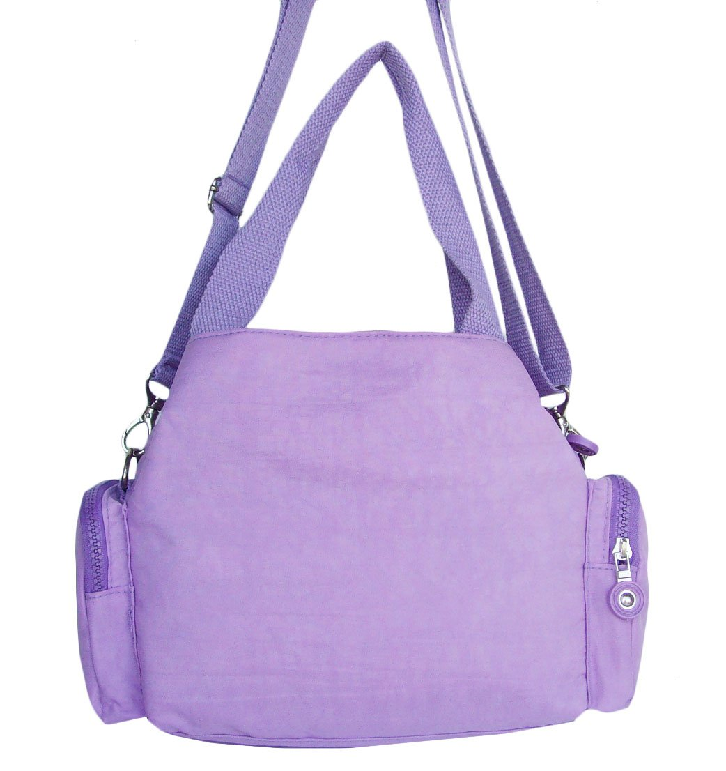 HONG YE Pure Stripe Slouch Bag,sku:hb77lightpurple5