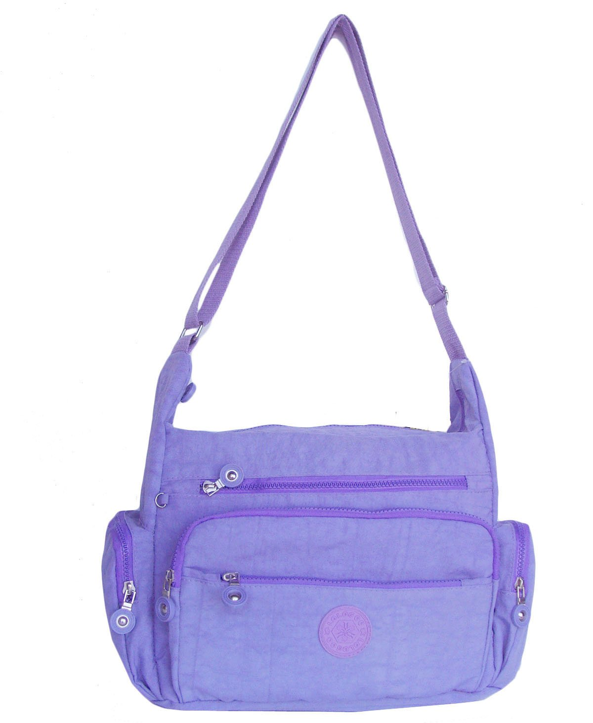 HONG YE Pure Stripe Slouch Bag,sku:hb78purple3