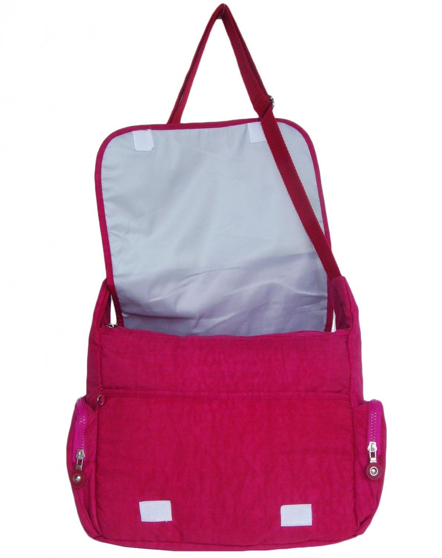 HONG YE Pure Stripe Slouch Bag,sku:hb79red2